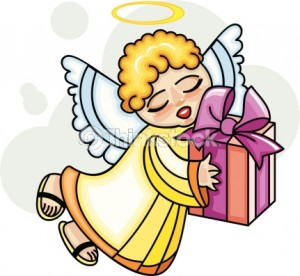 stockphotos angel with gift