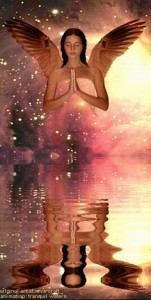 angel in water