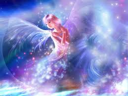 purple lights angel